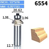 1pcs 1/2  1/4  Shank classical Router Bits for wood Tungsten Carbide Woodworking endmill tools classical mounlding bit