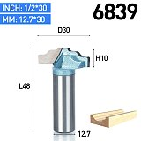 1 PC 1/4  Shank Four Arc CNC Bit Endmill  for Wood Woodworking Trimming Router Bits Tool Cabinet Sliding Milling Cutter