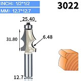 1pcs 1/2  1/4  Shank Router Bits for Wood Drawing Line bit With Bearing Woodworking Tools two Flute endmill milling cutter