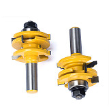 Glass Door Frame Joint Router Bit ,Tungsten Carbide Woodworking Milling Cutter A Dual-use For Mortising