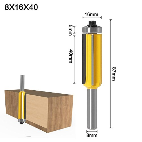 3pc 8mm Flush Trim bit Z4 Pattern Router Bit Top & Bottom Bearing Bits Milling Cutter For Wood Woodworking Cutters
