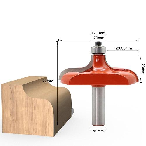 1Pc Traditional Table Edge Router Bit - 12mm Shank Line knife Woodworking cutter Tenon Cutter for Woodworking Tools