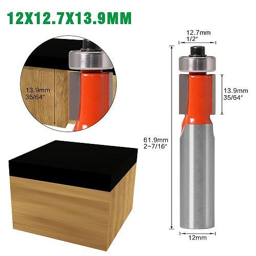 1Pc 12mm SHANK long blade flush bit Flush Trim Router Bit End Bearing For Woodworking Cutting Tool