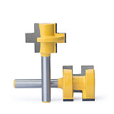 Router Bits Milling Cutter ,CNC Tool Trimming Machine Boring Tool, Male And Female Hoe Head Square Tooth Bit