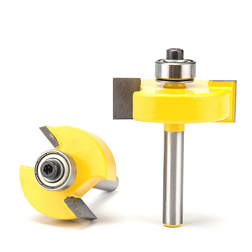 1pc 1/4  Shank T Type Woodworking Router Bits Tenon Cutter For Wood Mortising Milling Cutter CNC Joint Combination Bit