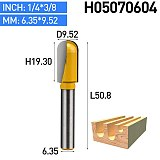 1pc 1/4  Lengthening Deep Round Bottom Woodworking Router Bits Round Slotting Milling Cutter For Woodworking Furniture