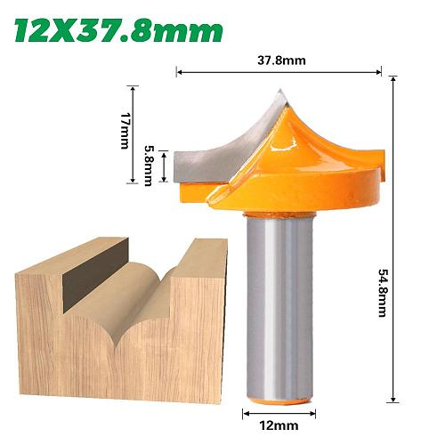 1pcs 12mm Shank  solid carbide round no wood router bit Straight end mill trimmer cleaning flush trim corner round cove box