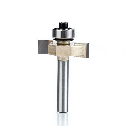 1pcs  1/4 inch Rabbeting Bit with Bearings woodworking tool T type bearings wood milling cutter router bits for wood 1/4