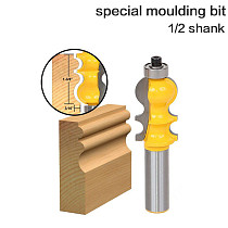 1PC Casing & Base Molding Router Bit - 1/2  Shank 12mm shank Line knife Woodworking cutter Te RCT
