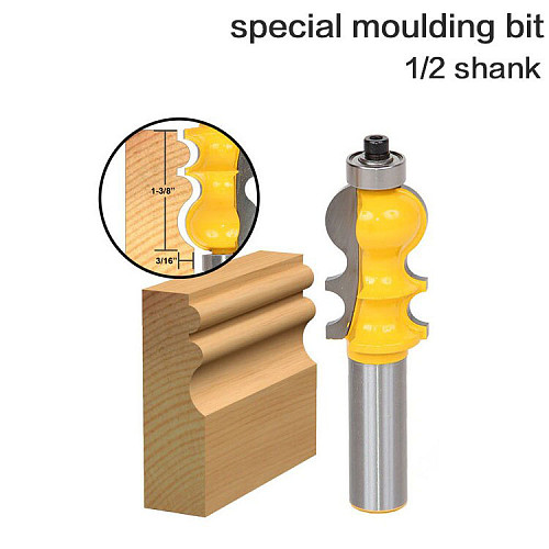1PC Casing & Base Molding Router Bit - 1/2  Shank 12mm shank Line knife Woodworking cutter Te RCT