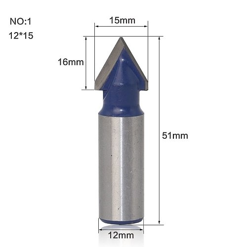 1pcs 12mm Shank wood router bit Straight end mill trimmer cleaning flush trim corner round cove box bits tools r