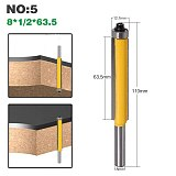 1Pc 8 shank long blade flush bit Flush Trim Router Bit End Bearing For Woodworking Cutting Tool