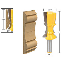 1PCS 1/2 shank 12mm shank Large Reversible Crown Molding Router Bit Line knife Tenon Cutter for Woodworking Tools