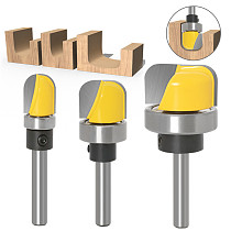 3PC 6mm 1/4 Shank1/2  3/4  1-1/8  Diameter Bowl & Tray Template Router Bit Wood Cutting Tool woodworking router bits