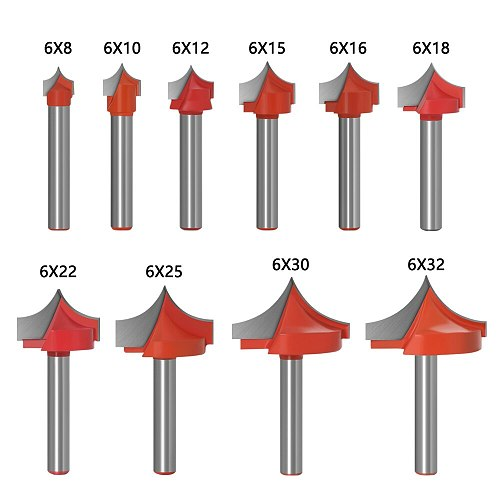 1pc 6mm Shank CNC tools solid carbide round nose Bits Round Point Cut Bit Shaker Cutter Tools For Woodworking