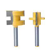 1pc 1/2  Shank Router Bits Milling Cutter CNC Tool Trimming Machine Boring Tool Male And Female Hoe Head Square Tooth Bit