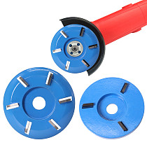 90mm Diameter 16mm Bore six Teeth Woodworking Turbo Tea Tray Digging Wood Carving Disc Tool Milling Cutter