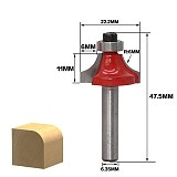 Milling Cutter Router Bit Set, Wood Cutter Carbide Shank Mill Woodworking ,Engraving Cutting Tools RCT