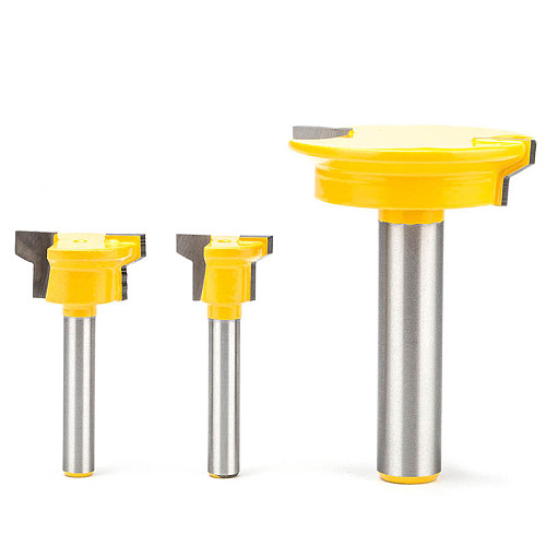 HUHAO 1pc 1/4  Shank Woodworking Router Bits CNC Joint Combination Bit Drawer Lock Knife  Finger Joint Plate Milling Cutter