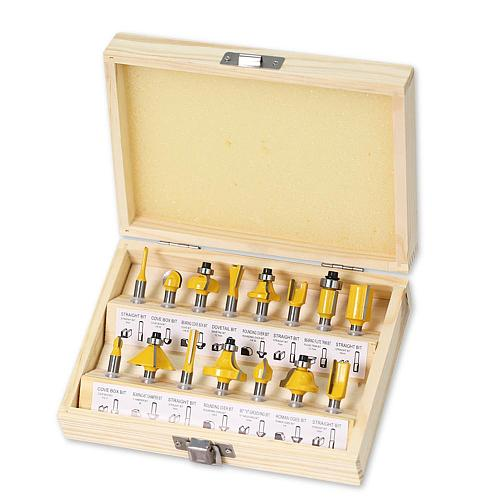 15pcs1/4inch Router Bit Set Trimming Straight Milling Cutter for Wood Bits Tungsten Carbide Cutting Woodworking
