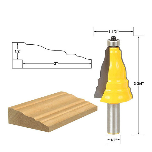Door & Window Casing Router Bit - 1/2  Shank 12mm shank -  Line knife Woodworking cutter Tenon Cutter for Woodworking Tool
