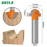 1/2  Wavy Edge Forming Router Bit - 8  Shank