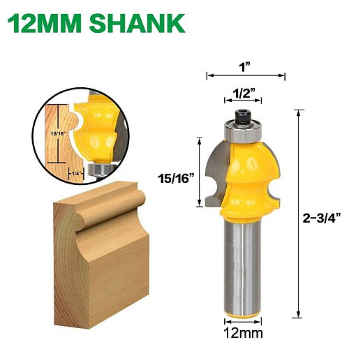 1PC Architectural Molding Router Bit - 1/2  Shank Line knife Woodworking cutter Tenon Cutter for Woodworking Tools RCT