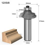 1PC 6mm 12mm Shank Ogee Edging wood router bit Straight end mill trimmer cleaning flush trim corne