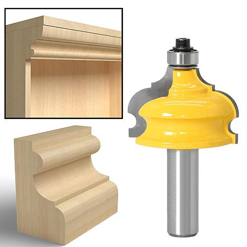 1pc Classical & Bead Molding & Edging Router Bit - 1/2  Shank 12mm shank Tenon Cutter for Woodworking Tools