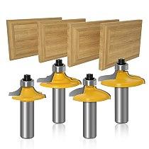 1-4 pcs Drawer Front & Cabinet Door Front Router Bit Set-1/2  Shank 12mm shank woodworking cutter woodworking bits