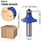 Corner Round Over Router Bit ,with BearingMilling Cutter , Wood Woodwork Tungsten Carbide