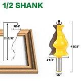 Large Elegant Picture Frame Molding Router Bit - 1/2  Shank 12mm shank -JGZUI
