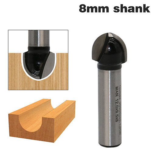 1pcs 8mm Shank Double Edging Router Bits for wood cove box bit Tungsten Carbide Woodworking endmill miiling cutter