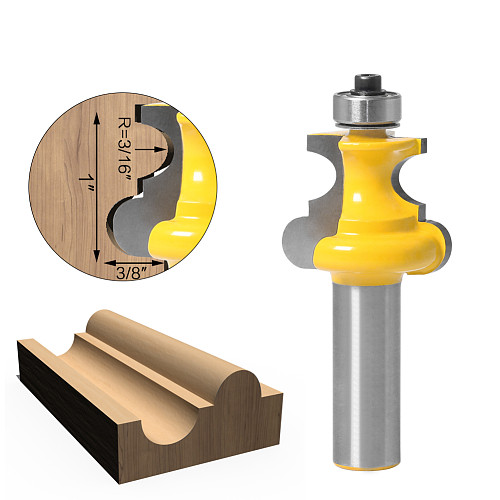 1pc 12mm 1/2  Shank Bead Molding Router Bit Flute & Beading Line Woodworking Tenon Milling Cutter for Wood Tools