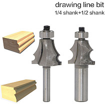 1pcs 1/2  1/4  Shank Drawing Line Router Bit for Wood With Bearing Woodworking Tools