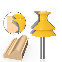 1pcs 8mm Shank Architectural Molding Handrail Router Bits Set Casing Base CNC Line Woodworking Cutters Face Mill
