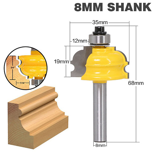 1PC Architectural Molding Router Bit - 8  Shank Line knife Woodworking cutter Tenon Cutter for Woodworking Tools