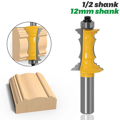 Mitered Drawer Front Molding Router Bit - 1/2  Shank  12mm shank Woodworking Chisel Cutter Tool