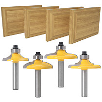 4PC 8mm Shank Drawer Front & Cabinet Door Front Router Bit Set - woodworking cutter woodworking bits