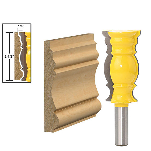 1Pc 1/2  Shank Crown Molding - Oversized 2 1/2  Router Bit Line knife Woodworking cutter Tenon Cutter RCT-18001