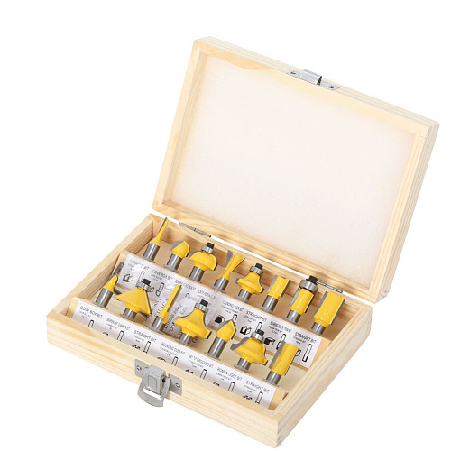 15pcs 8mm shank Router Bit Set Trimming Straight Milling Cutter for Wood Bits Tungsten Carbide Cutting Woodworking