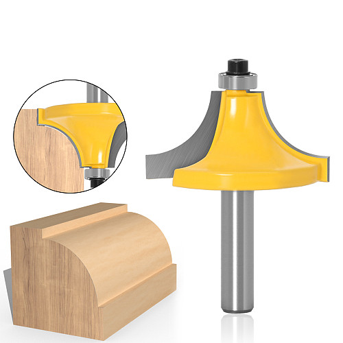 Round Over Edging Router Bit - 1  Radius 8  Shank 1pcs 8mm Shank wood router bit Straight end mill trimmer cleaning flush trim