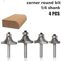 4pcs  Radius Round Over Edge Forming Router Bit - 1/4  Shank
