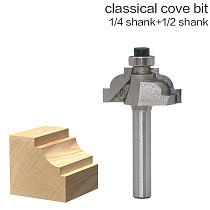 1pc 1/2 1/4 Shank High Quality Classical Cove Edging Router Bit - 3/16  Radius Wood Cutting Tool woodworking router bits