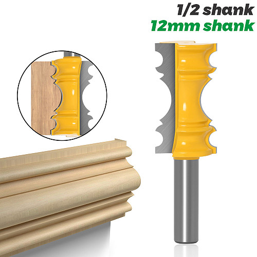 1pc Large Elaborate Chair Rail Molding Router Bit - 1/2  Shank 12mm shank Line knife Tenon Cutter for Woodworking Tools