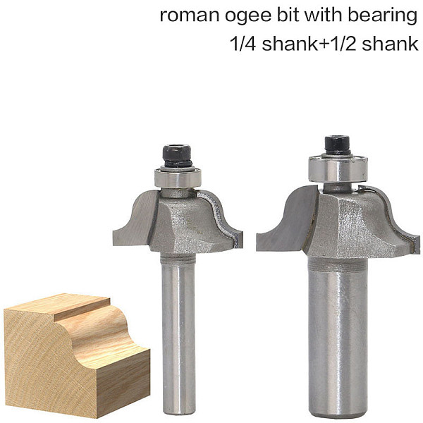 1pc 1/4 1/2 Shank High Quality Roman Ogee Edging and Molding Router Bit Wood Cutting Tool woodworking router bits