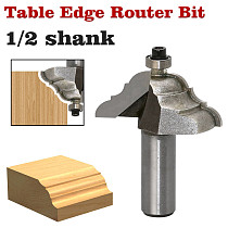 1Pc Table Edge Router Bit -French Baroque 1/2  Shank 12mm shank Line knife Woodworking cutter Tenon Cutter for Woodworking Tools