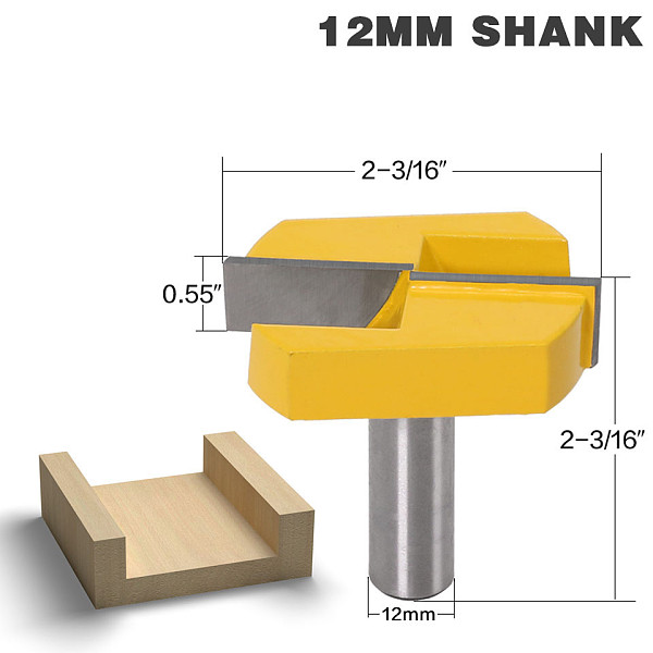 Cleaning Bottom Router Bits with 12 Shank,2-3/16 Cutting Diameter for Surface Planing Router Bit