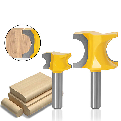 1Pc Bullnose Router Bit Set C3 Carbide Tipped 8mm  Shank Woodworking cutter