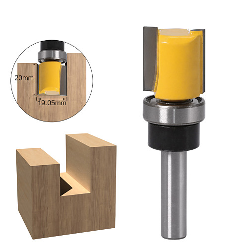 1PC 8mm Shank Template Trim Hinge Mortising Router Bit Straight end mill trimmer cleaning flush trim Tenon Cutter forWoodworking